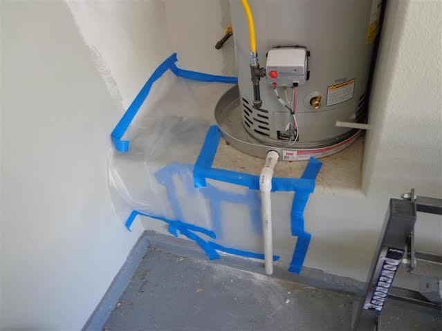 Water Heater Leak in Garage