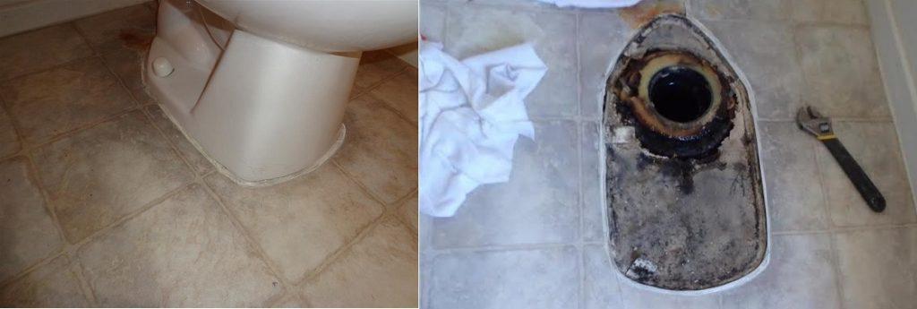 Toilet overflowed