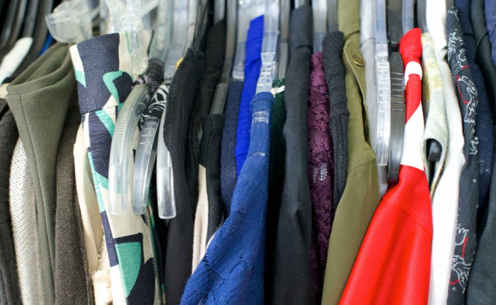 stuffy, messy closet that's a breeding ground for mold