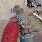 washing machine hose leak
