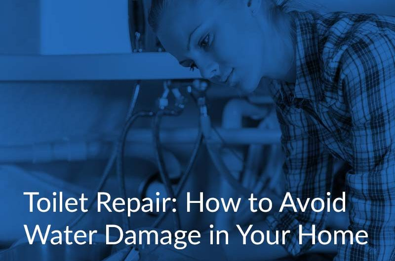 toilet repair water damage in home